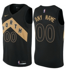 Men Women Youth Toddler All Size Toronto Raptors Black Customized City Edition Authentic NBA Jersey