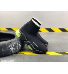 Balencia socks elastic woven surface Men Women Shoes Black Green