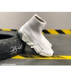 Balencia socks elastic woven surface Men Women Shoes White