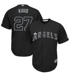 Angels 27 Mike Trout Kiiiid Black 2019 Players Weekend Player Jersey