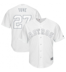 Astros 27 Jose Altuve Tuve White 2019 Players Weekend Player Jersey