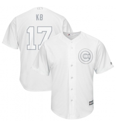 Cubs 17 Kris Bryant KB White 2019 Players Weekend Player Jersey