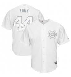 Cubs 44 Anthony Rizzo Tony White 2019 Players Weekend Player Jersey