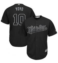 White Sox 10 Yoan Moncada Yoyo Black 2019 Players Weekend Player Jersey