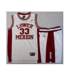 Lower Merion 33 Kobe Bryant White Basketball Jerseys Shorts Suits