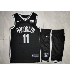Nets 11 Kyrie Irving Black Nike Swingman Jersey 28With Shorts