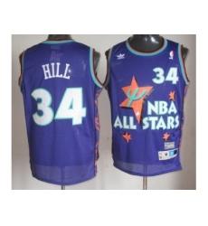 NBA 95 All Star #34 Hill Purple Jerseys