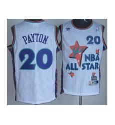 Seattle SuperSonics 20 Gary Payton White 95 All Star NBA Jerseys