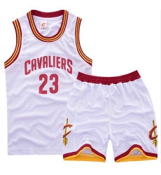 youth Cleveland Cavaliers 23# Lebron James White Suit Sets