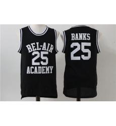 Men Bel Air Academy 25 Carlton Banks Black Stitched Movie Jersey