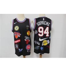 Men Supreme Nike 18ss NBA Teams Jersey Black