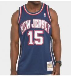 Men New Jersey 15 Vince Carter Blue Jersey