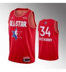 Bucks 34 Giannis Antetokounmpo Red 2020 NBA All Star Jordan Brand Swingman Jersey