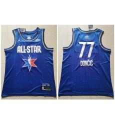 Mavericks 77 Luka Doncic Blue 2020 NBA All Star Jordan Brand Swingman Jersey