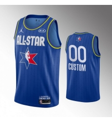 Men Blue Customized 2020 NBA All Star Jordan Brand Swingman Jersey