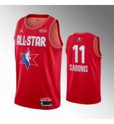 Pacers 11 Domantas Sabonis Red 2020 NBA All Star Jordan Brand Swingman Jersey