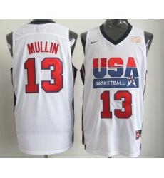 1992 Olympics Team USA 13 Chris Mullin White Swingman Jersey