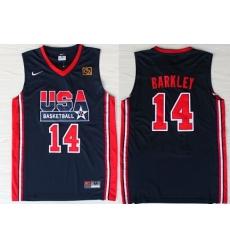 1992 Olympics Team USA 14 Charles Barkley Navy Blue Swingman Jersey
