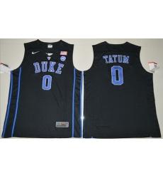 Blue Devils #0 Jayson Tatum Black Basketball Elite Stitched NCAA Jersey