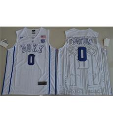 Blue Devils #0 Jayson Tatum White Basketball Elite Stitched NCAA Jersey
