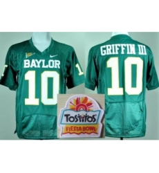 Baylor Bears 10 Rebort Griffin Green College Football NCAA Jerseys 2014 Fiesta Bowl Game Patch