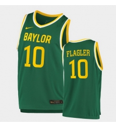 Men Baylor Bears Adam Flagler Replica Green College Basketball 2020 21 Jersey