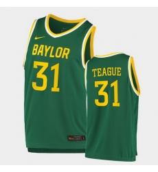 Men Baylor Bears Macio Teague Replica Green College Basketball 2020 21 Jersey