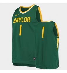 Men Baylor Bears Replica Green Basketball Jersey