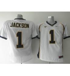 Golden Bears #1 DeSean Jackson White Embroidered NCAA Jersey