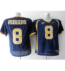 Golden Bears #8 Aaron Rodgers Blue Embroidered NCAA Jersey