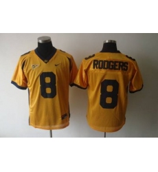 Golden Bears #8 Rodgers Gold Embroidered NCAA Jersey