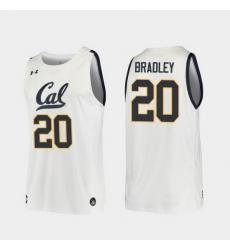 Men California Golden Bears Matt Bradley Replica White College Basketball 2019 20 Jersey
