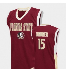 Men Florida State Seminoles Justin Lindner Red Fadeaway College Basketball Jersey