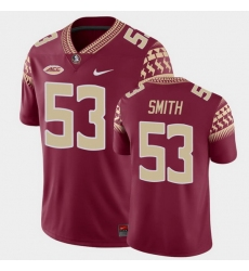 Men Florida State Seminoles Maurice Smith Game Garnet College Football Jersey