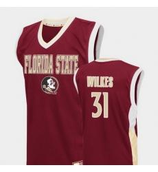 Men Florida State Seminoles Wyatt Wilkes Red Fadeaway College Basketball Jersey