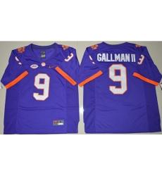 Tigers #9 Wayne Gallman II Purple Limited Stitched NCAA Jersey