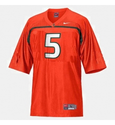 Men Miami Hurricanes Andre Johnson College Football Orange Jersey