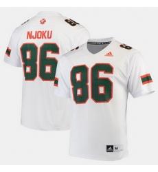 Men Miami Hurricanes David Njoku 2017 Special Games White Jersey