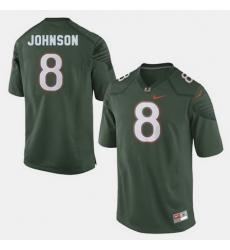 Men Miami Hurricanes Duke Johnson College Football Green Jersey