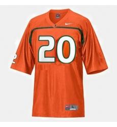 Men Miami Hurricanes Ed Reed College Football Orange Jersey