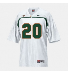 Men Miami Hurricanes Ed Reed College Football White Jersey