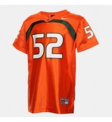 Men Miami Hurricanes Ray Lewis College Football Orange Jersey