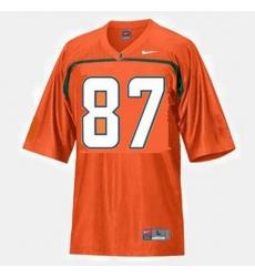 Men Miami Hurricanes Reggie Wayne College Football Orange Jersey