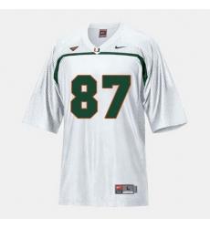 Men Miami Hurricanes Reggie Wayne College Football White Jersey