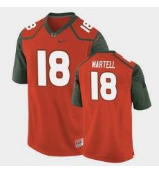 Men Miami Hurricanes Tate Martell Replica Orange College Football Jersey