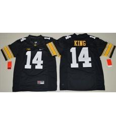 Hawkeyes #14 Desmond King Black Stitched NCAA Jersey