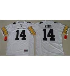 Hawkeyes #14 Desmond King White Stitched NCAA Jersey