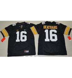 Hawkeyes #16 C  J  Beathard Black Stitched NCAA Jersey