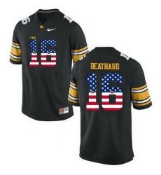 Iowa Hawkeyes 16 C J Beathard Black USA Flag College Football Limited Jersey
