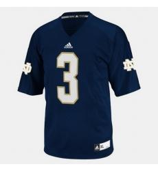 Men Notre Dame Fighting Irish Joe Montana College Football Blue Jersey